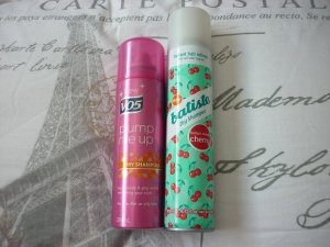 VO5 and Batiste dry shampoo's